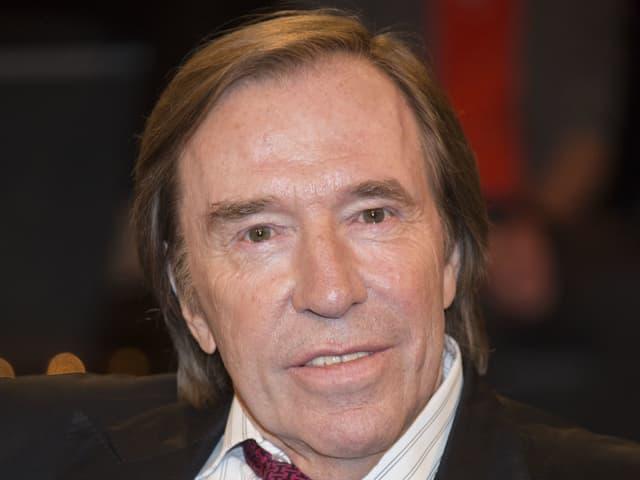 Günter Netzer in einer Talkshow.