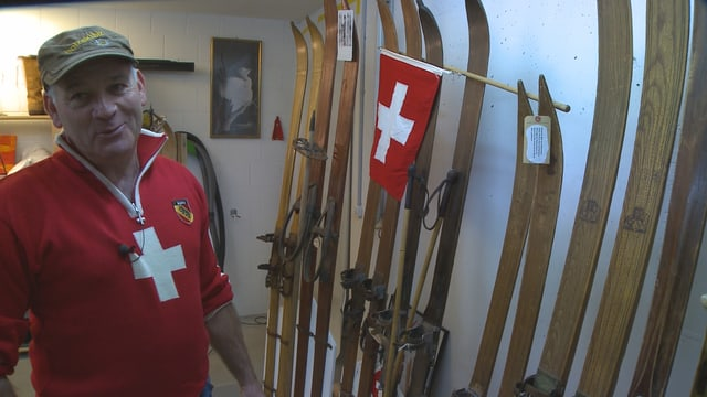 Mit den kleinen Skis aus Daniel Müllers Sammlung wedelte seinerzeit Kaiserin Zita über die Hänge.