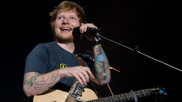 Ed Sheeran am Konzert im Zürcher Hallenstadion
