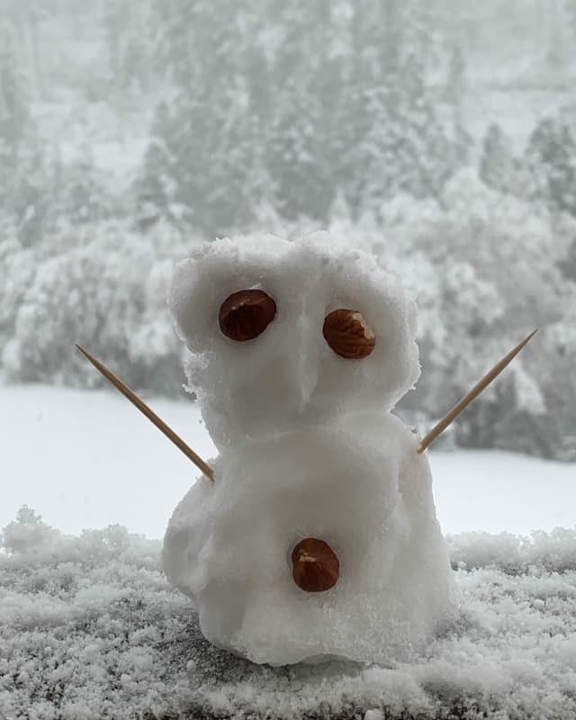 Kleiner Schneemann in Pontresina