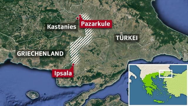 Karte Griechenland Türkei