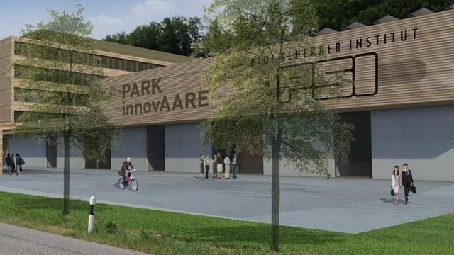 So könnte der Innovationspark beim Paul Scherrer Institut (PSI) in Villigen dereinst aussehen.