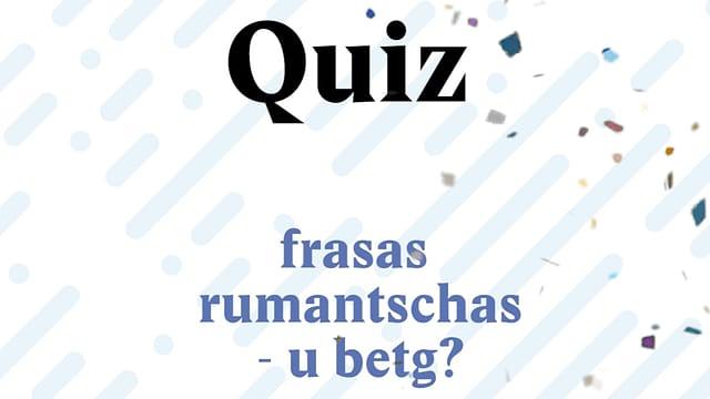Laschar ir video «80 onns rumantsch - quiz»