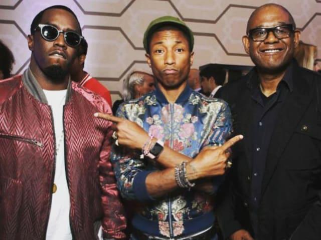 Pharrell mit Iwatch und Armbändern