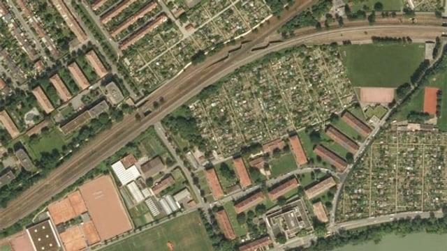 Stadtkarte von oben