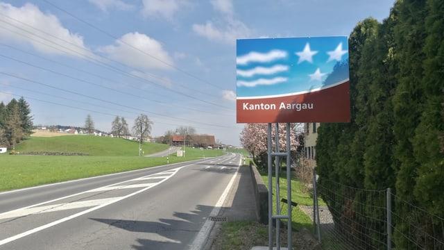 Schild Kanton Aargau