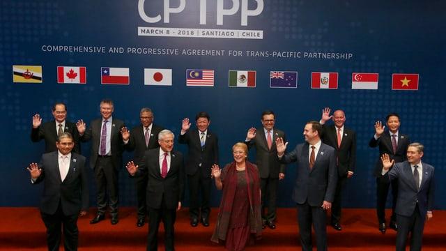 Elf verbleibende Länder unterzeichnen das Abkommen