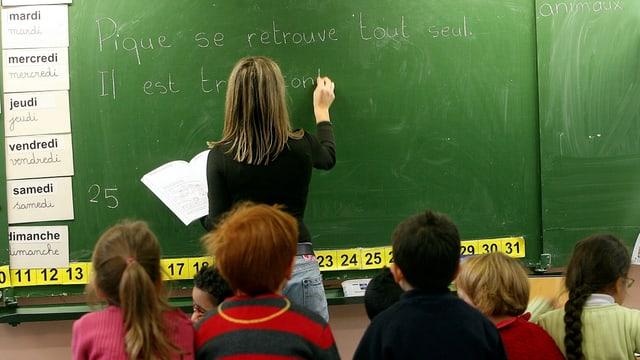 Französischunterricht in einer Schule