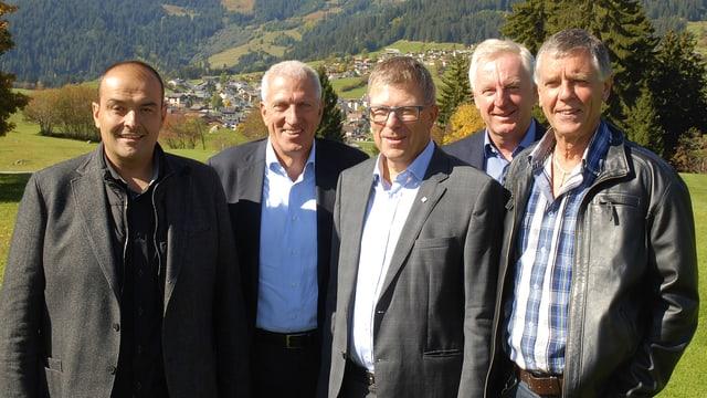Cussegl d'administraziun: Damian Sac, Pierin Vincenz, Marcel Friberg, Hansueli Baier e Richard Caduff