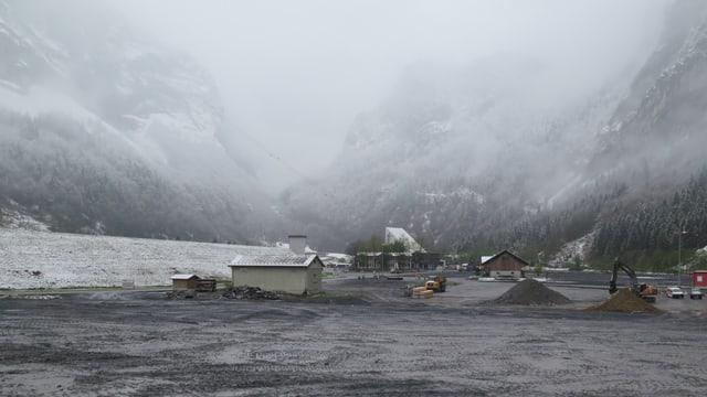 Talstation der Baustelle Linth Limmern