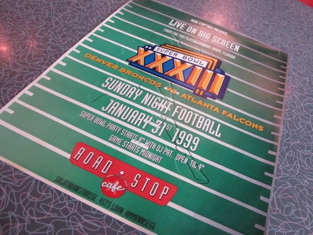 Plakat vom Super Bowl 1999