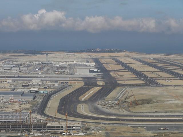 Luftaufnahme des Flughafens