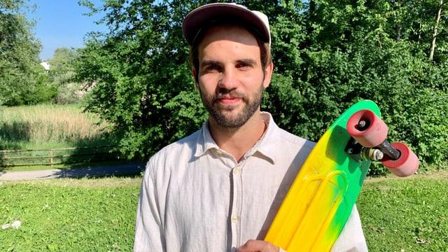 Nicolaj Schmid, Präsident des Skatervereins Arbon, ist froh, dass die Schulden nun getilgt sind.