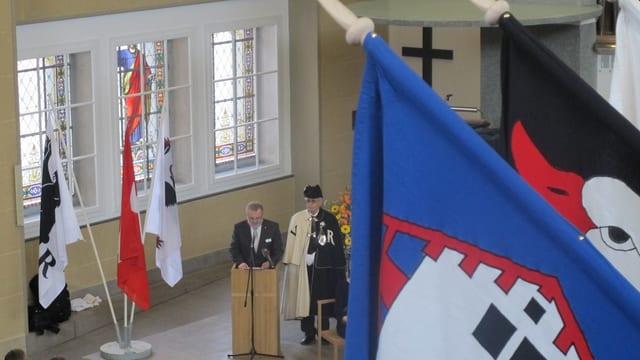 Der Ausserrhoder Landammann Hans Diem schwört die Anwesenden auf das Jubiläumsjahr ein.