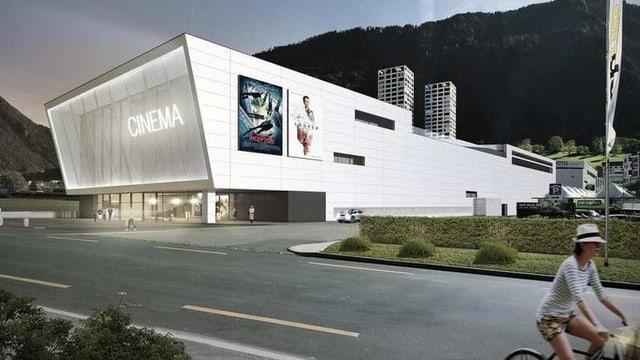 Visualisaziun dal cumplex da kino a Cuira.