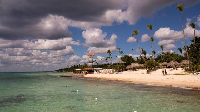 Blick auf den Strand von Bayahibe