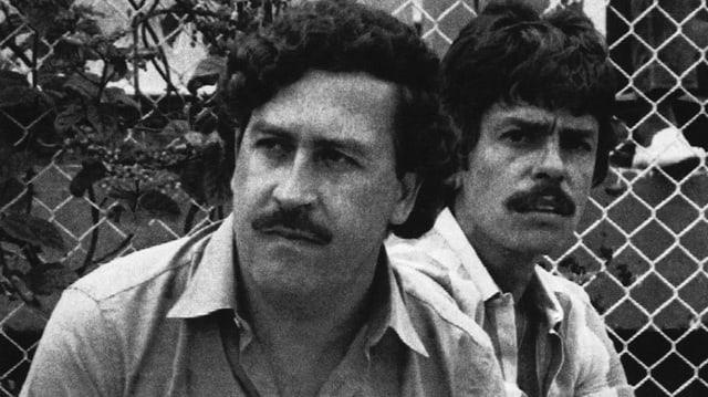 Escobar mit einem Bodyguard 1983
