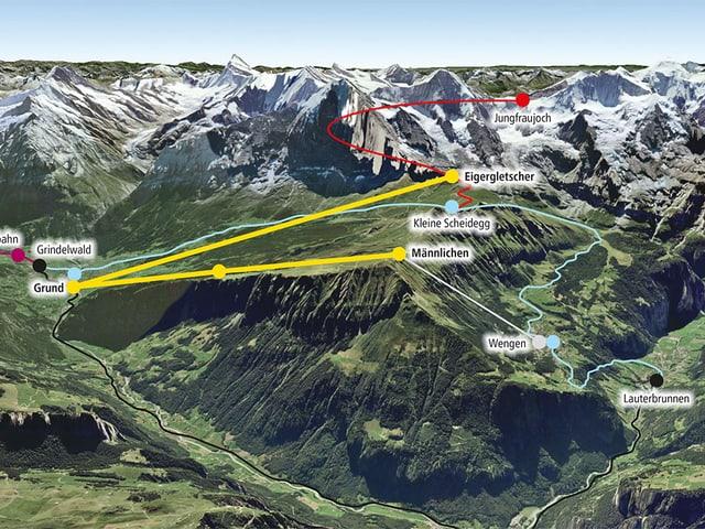 Situationsplan der Jungfrauregion