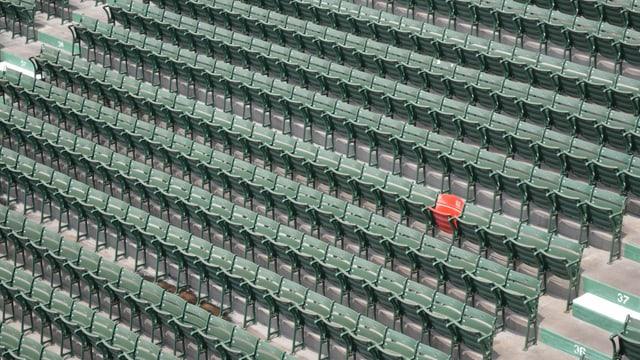 Bild eines leeren Stadions