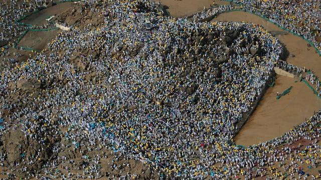 Pilger in der Arafat-Ebene