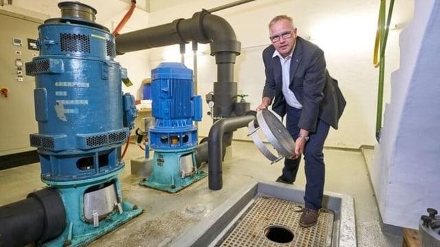 Werner Häller, Geschäftsführer der Wärmeverbund Seetalplatz AG.