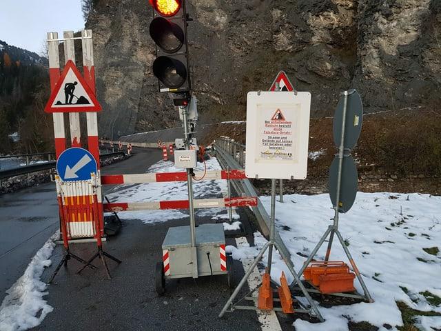 La via en Val Son Pieder ei las proximas notgs serrada.