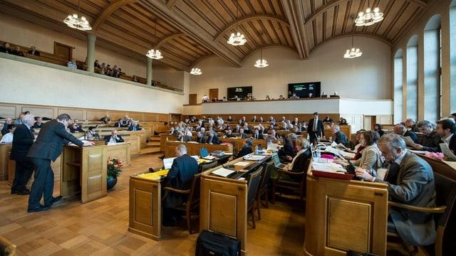 Blick in den Saal des Berner Kantonsparlaments.