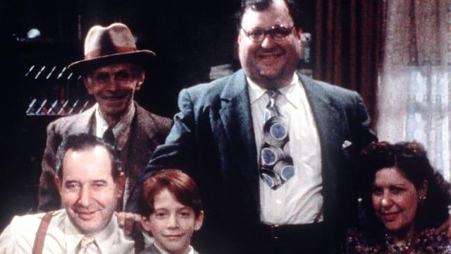 Onkel Abe im Kreise seiner Familie.