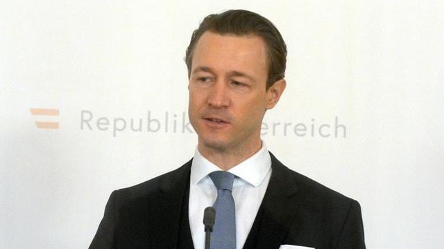 Gernot Blümel in Nahaufnahme