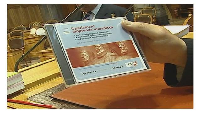 Sessiun extra-muros dal parlament federal 2006 a Flem. Pitschen curs da Rumantsch Grischun.