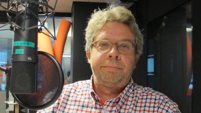 Peter Wyden, der Präsident des Schweizerischen Bankpersonalverbands, im SRF-Studio