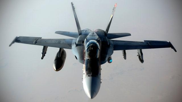 Kampfflieger in der Luft