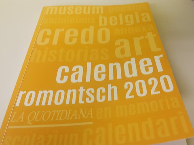 Il Calender romontsch dal 2020.
