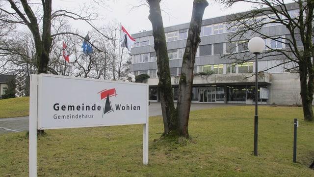 Schild Gemeindehaus Wohlen