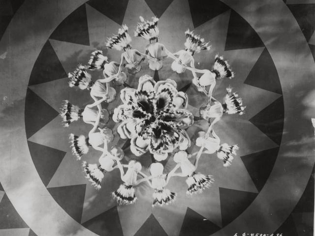 Viele Täzerinenn von oben aufgenommen sehen wie eine Blume aus.