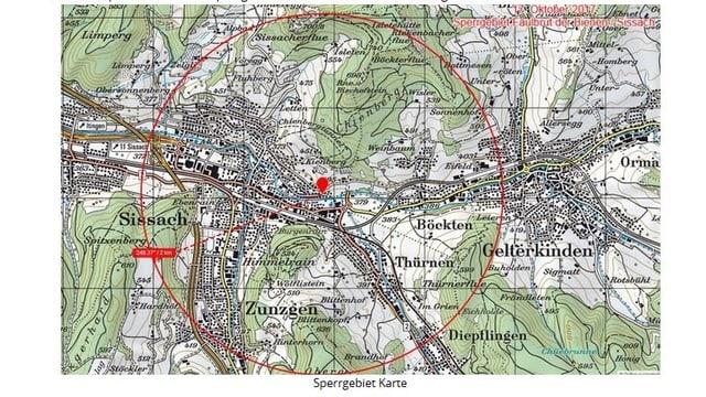 Kartenübersicht der Sperrzone