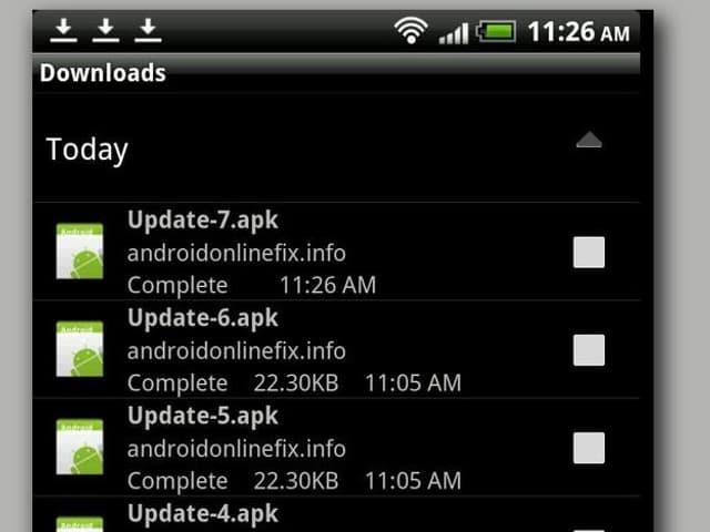 Ein Screenshot, wie der Trojaner auf dem Handy aussehen kann.