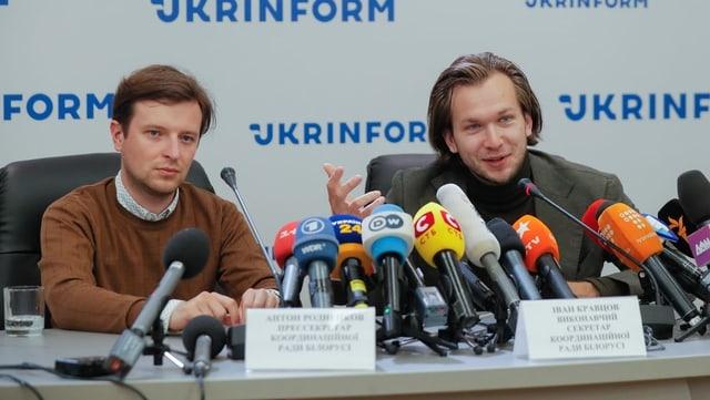 Rodnenkow und Krawzow sprechen auch einem Podium