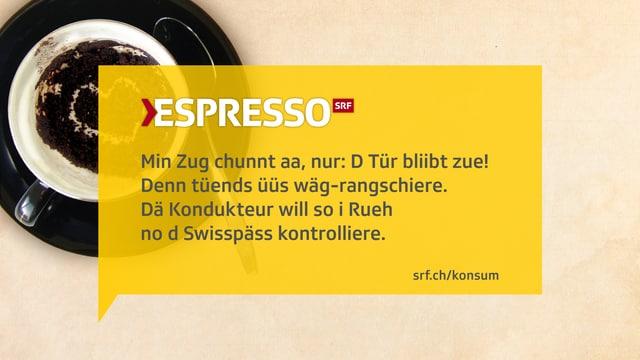 Kafisatz zu den aufwendigen Swisspass-Kontrollen.