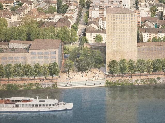 Visualisierung, wie der Klybeck-Quai einst aussehen könnte.