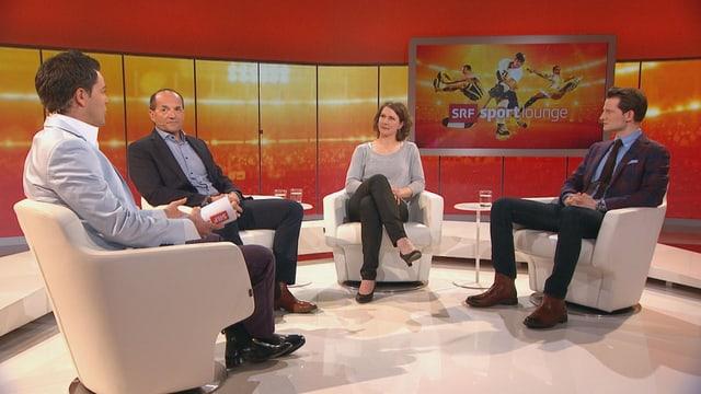 Lukas Studer mit Gian Gilli, Kathrin Lehmann und Fabian Unteregger