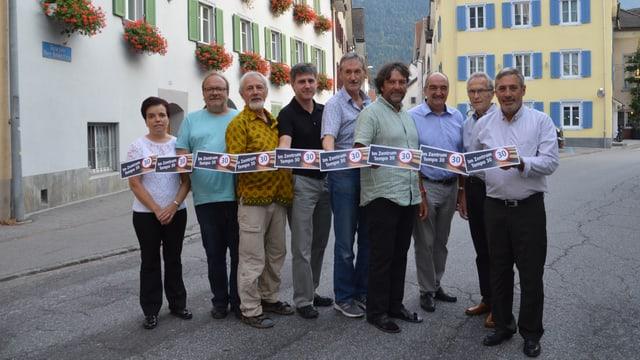 Il comité da l'iniziativa per tempo 30 a Domat.
