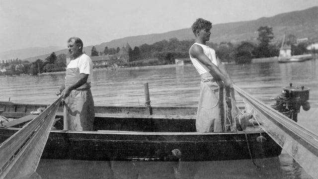 Die beiden Fischer Ami Gay und Sohn Paulus
