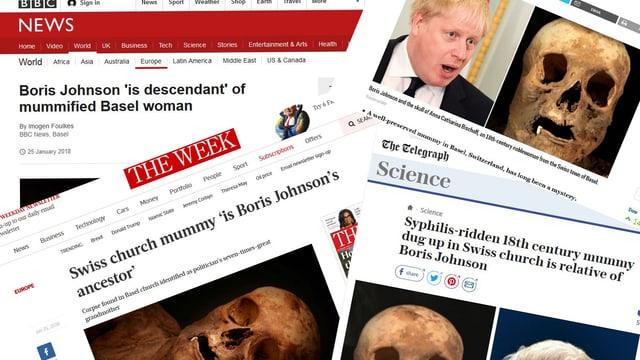 Zeitungen übereinander