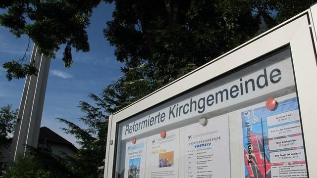 Informationstafel der reformierten Kirche in Villmergen