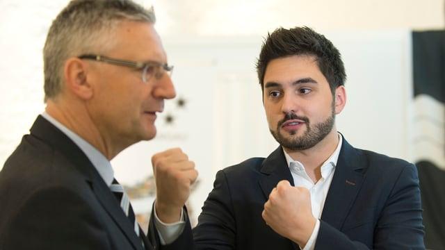 Andreas Glarner und Cédric Wermuth