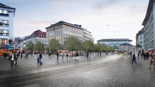 Visualisierung Marktplatz St. Gallen