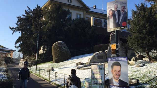 Wahlplakate in Liestal