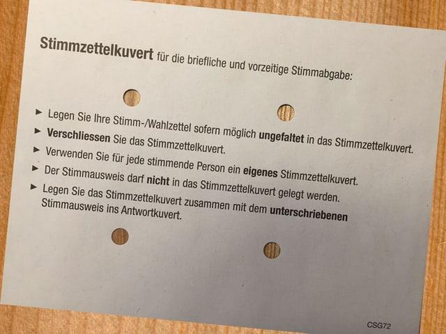 Stimmcouvert
