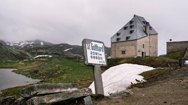 Der Gotthardpass auf 2100 Metern Höhe